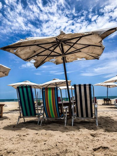 Vacations Sol Fortaleza Brazil Sombrilla Reposera Playa #beach Playa #beach Playa Beach Land Sky Sand Nature Water Sea Day Cloud - Sky Chair Parasol Protection
