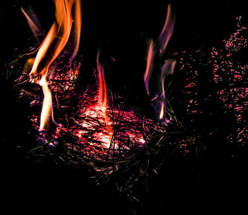 Fireball Black Sky Inferno Wildfire Motion Smoke - Physical Structure Burning Flame Destruction Outdoor Fire Grass Fire Sparks Embers Burning Embers Power In Nature Long Exposure Close-up Luminosity Illuminated Glowing Burning Heat - Temperature Night Flame Dark Background Night Time