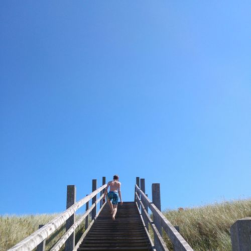 Into the blue Hanging Out Taking Photos Relaxing Summer Summertime Summer Time  Beach Beachphotography Beach Life Beach Photography Beach Time Beach Day Blue Life Is A Beach Blue Sky Stairs Zeeland  Zeeuwse Kust Domburg  The Netherlands LG4 People And Places