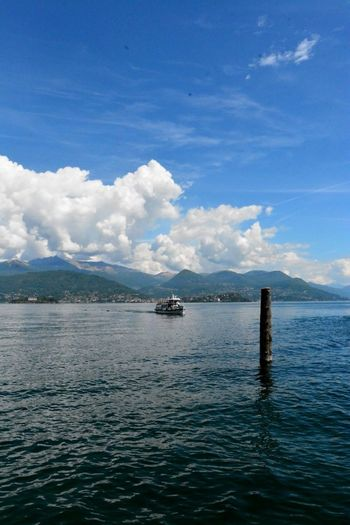Stresa Italy Beauty In Nature Blue Cloud - Sky Day Nature Nautical Vessel No People Outdoors Rippled Scenics Sea Sky Tranquility Transportation Water Waterfront