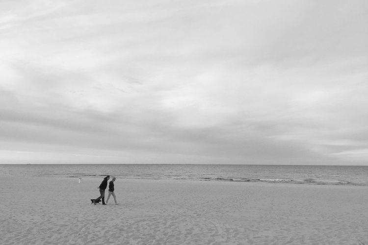 Evening Seacoast Strollers - Monochromatic Sopot 8 June 2015 IPS2015Landscape IPhoneography EyeEm Bnw Minimal EyeEm Best Shots EyeEm Best Edits Landscape_Collection Landscape IPSBlackWhite The Great Outdoors - 2015 EyeEm Awards IPS2016White