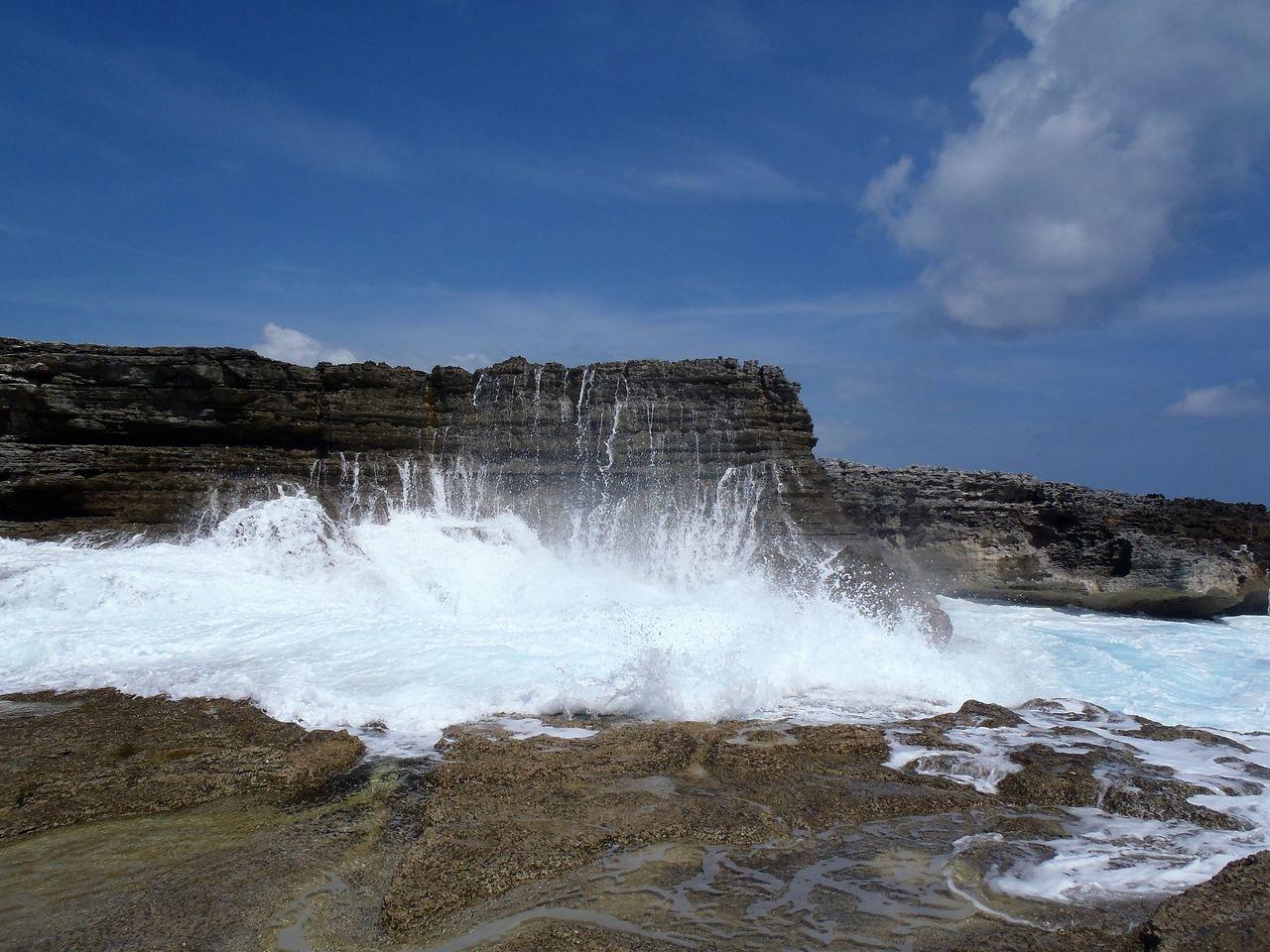 Water Splashing Against Sky