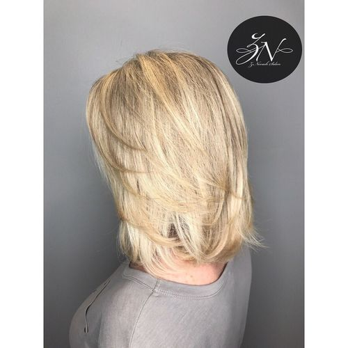 Blonde Color & Haircut @znevaehsalon Blond Hair Haircut hairstyle L'Oreal Professionnel Knoxville tn