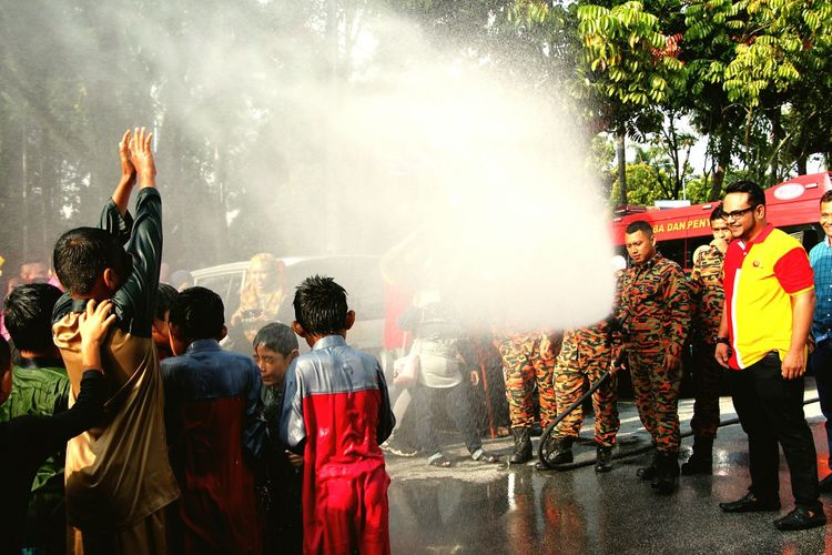 Water fountain activities to circumcised children. Editorial  EyeEm Selects Men Tradition Cultures Large Group Of People Traditional Festival Adult Celebration People Togetherness Real People Outdoors Water