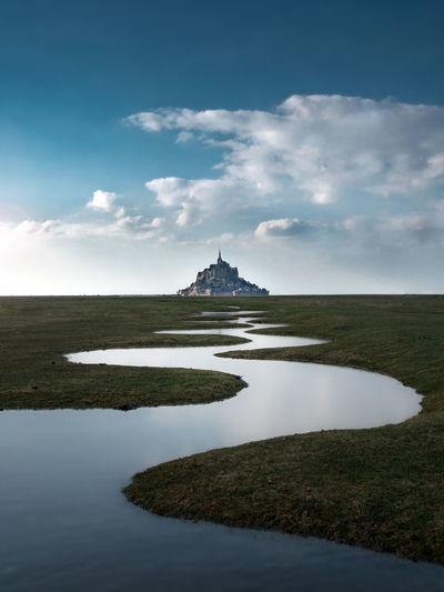 Landscape at mont-saint-michel