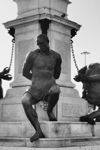 Quattro Mori Livorno Tuscany Italia Sculpture Art Black And White Black & White Monochrome Light And Shadow