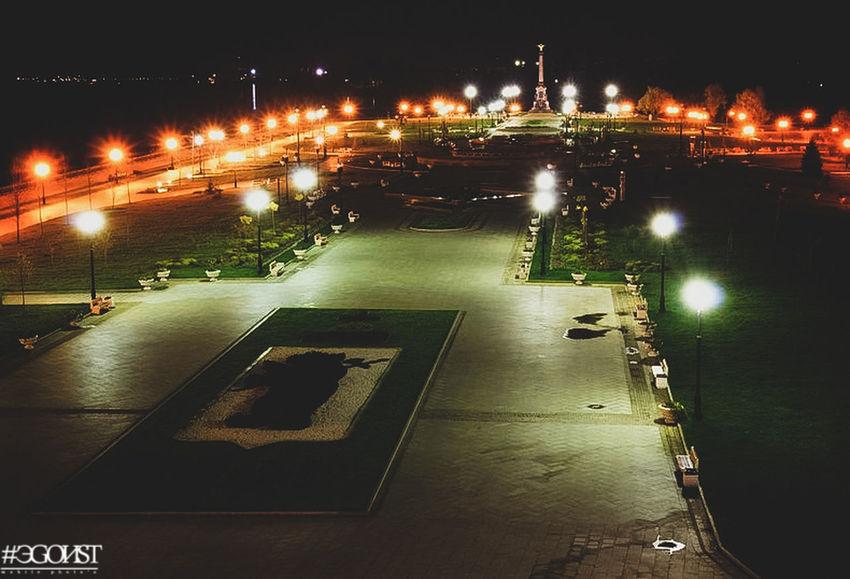 ночная жизнь Illuminated City Reflection Neon