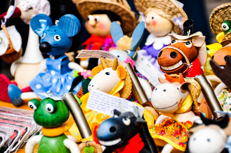 Colorful Toys At Store For Sale