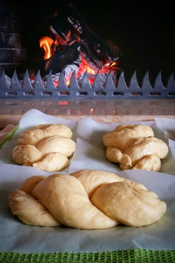 Easter Ready Preparation  Homemade Masticha Brioche Mastic Sugar Fireplace Patience Patiently Waiting Homemade Food Home Cooking Grandma Recipe Grandma's House Greek Easter Tradition Traditional Culture Easter Holidays - Greece