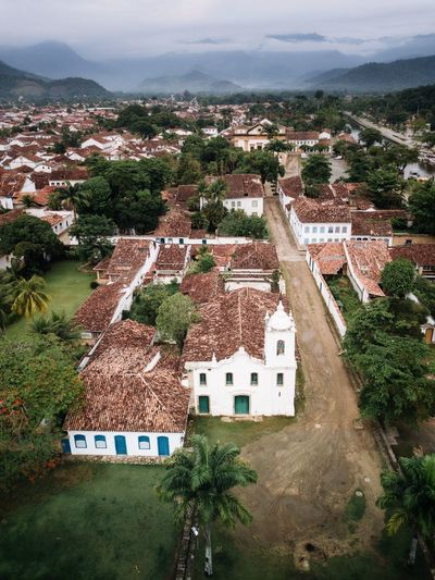 Paraty Rio from above Architecture Built Structure Building Exterior Building High Angle View Nature Plant Residential District House City Sky Day Outdoors Environment Growth Scenics - Nature Land Tree Landscape No People