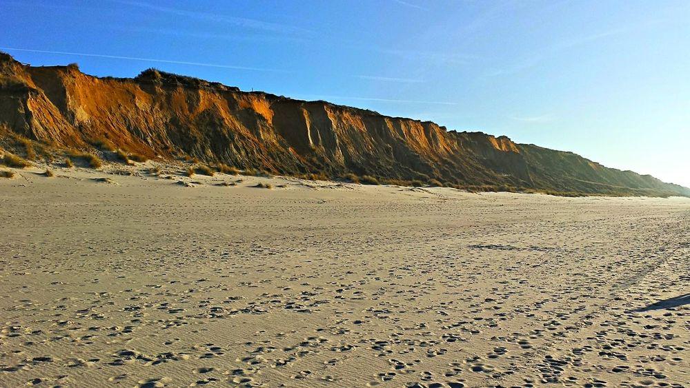 Strand bei Kampen Beach Sylt Kampen Steilküste Sand Dune Sand Clear Sky Rock - Object Nature Reserve Blue EyeEmNewHere