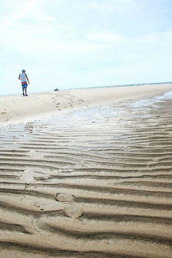 Natural Beauty Sand Ripples Beach Western Brook Beach Parks Canada Gros Morne Newfoundland Canada A Man And His Dog Beachlife Coastal Life Sand And Sun Footprints Fine Art Photography