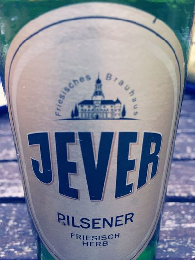 Jever Beer Text Western Script Close-up Communication Water Focus On Foreground Journey Outdoors Day Symbol No People Sea Geometric Shape
