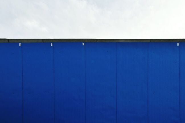 Blue Blue Color Blue And White Sky Architecture LINE Simplicity Minimalism Minimal No People Day Backgrounds Empty Blue Surface Outdoors Head Shot  Monochrome Blue Line Roof Textures And Surfaces Lines And Shapes Clean Nature The Architect - 2017 EyeEm Awards The Street Photographer - 2017 EyeEm Awards