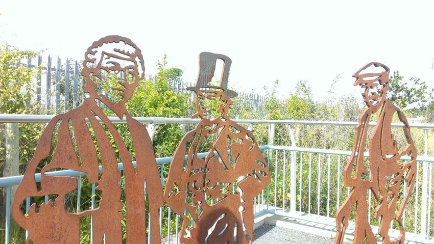 Art ArtWork Steel Brunel Rusty Statue Historical Heritage Steam Great Western Railway Atmospheric