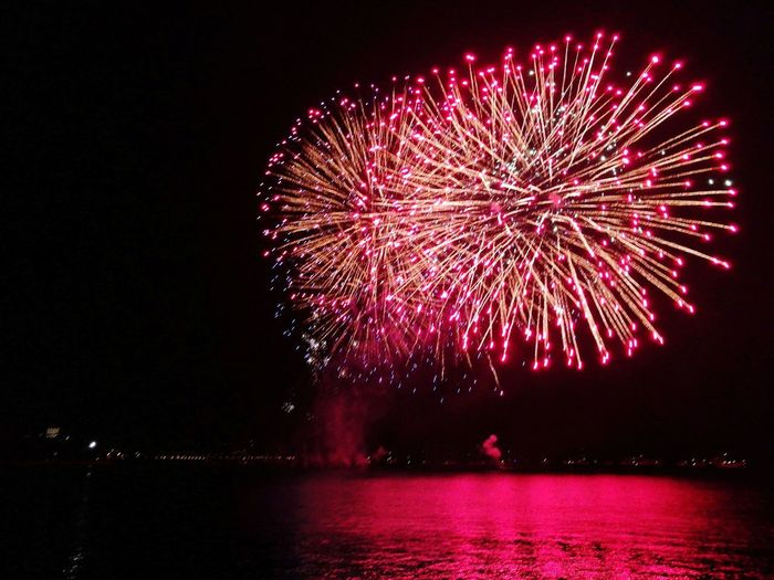 Firework Display Night Celebration Exploding Firework - Man Made Object Multi Colored Arts Culture And Entertainment Red Sky No People Water Outdoors Illuminated Fireball Lake View Fireworks Photography Fireworks In The Sky Firework🎆 Fireworksphotography Fireball Colors Lake Lake Garda Colours Red Color Mix Yourself A Good Time EyeEmNewHere