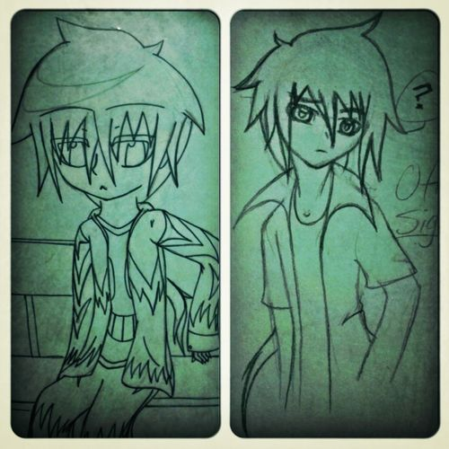 decided to redraw some of my old characters. froom 2009 to 2013; I gotta admit I've improved excellently ;D Art  Pencil Redrawn Awesome