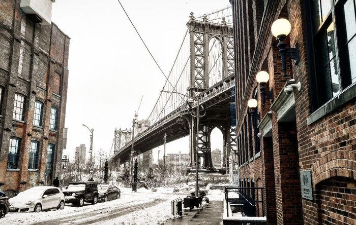 Architecture Outdoors Snow No People City Brooklyn Downtown Brooklyn DUMBO, Brooklyn