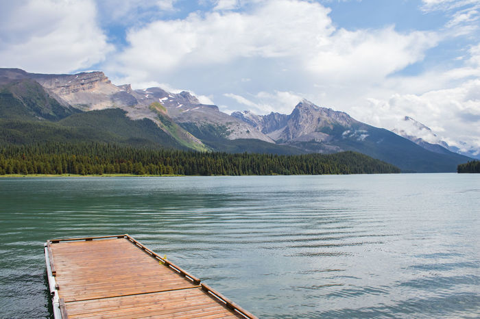 #Canada #banff #beautiful #clouds  #hiking #jasper #lakemaligne Beauty In Nature Lake Mountain Mountain Range Nature No People Outdoors Tranquility Water