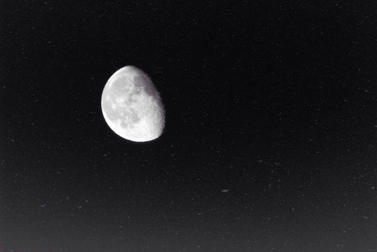 Monochrome Moon Skyporn Taking Photos