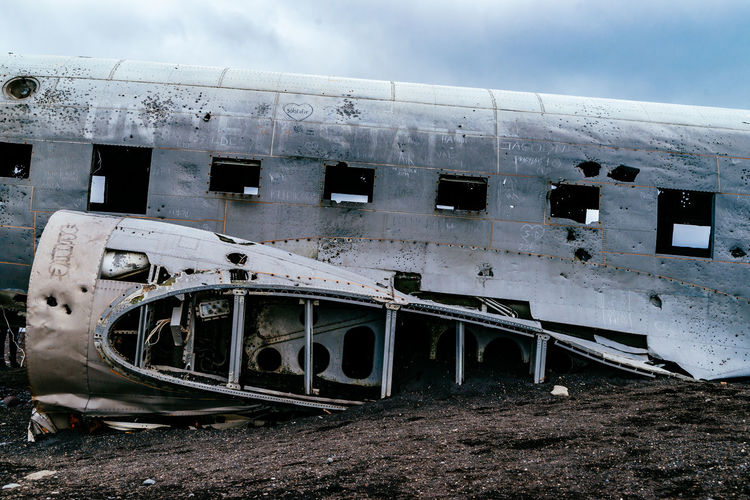 Abandoned Architecture Building Exterior Built Structure Car Cloud - Sky Damaged Day Destruction Deterioration Field Iceland Island Land Vehicle Mode Of Transport No People Obsolete Old Outdoors Run-down Sky Transportation