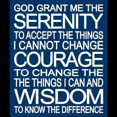Serenity. Courage. Wisdom. Serenityprayer