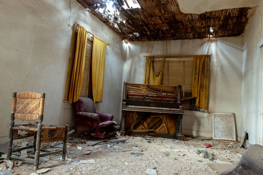 Abandoned Places Chair Derelict Music Piano Ruins Abandoned Abandoned Buildings Creepy Curtains Deterioration Entropy Indoors  Interior Design Seating Urbex
