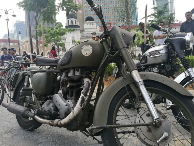 motorcycle rare Mode Of Transport Transportation Land Vehicle Outdoors Motorcycle Patriotism Malaysia Independence Independence Day Kuala Lumpur Malaysia  Kuala Lumpur Greens EyeEmNewHere Malaysia Green Color