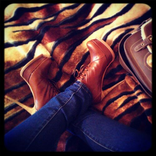 Fashion Leatherboots Heels Style