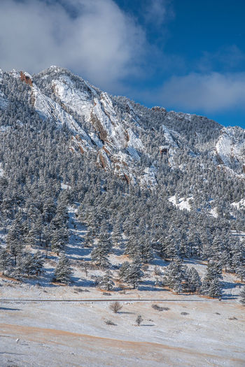 Boulder Colorado Boulder Snow Winter Wonderland Flatirons Rocky Mountains Colorado Cold Temperature Winter Mountain Beauty In Nature Scenics - Nature Sky Cloud - Sky Day Environment Nature No People Tranquil Scene Tranquility Landscape Non-urban Scene Mountain Range Snowcapped Mountain Plant Outdoors Mountain Peak Range