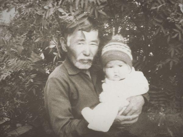 Dearest Grandpa Happy Childhood Child Two People In 1989