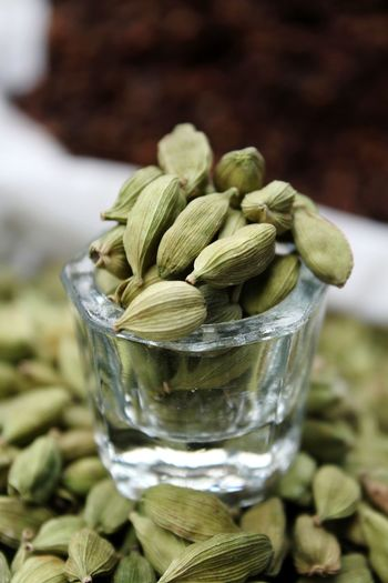 cardamon Spices Spices Of The World Cardamon Cardamom Pods Cardamond Drinking Glass Close-up Food And Drink Herbal Tea