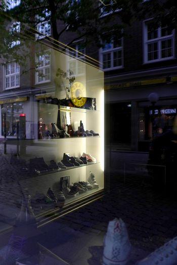 Shoe shop Architecture Consumerism Illuminated Light Reflection Retail  Shoe Shop Store Window