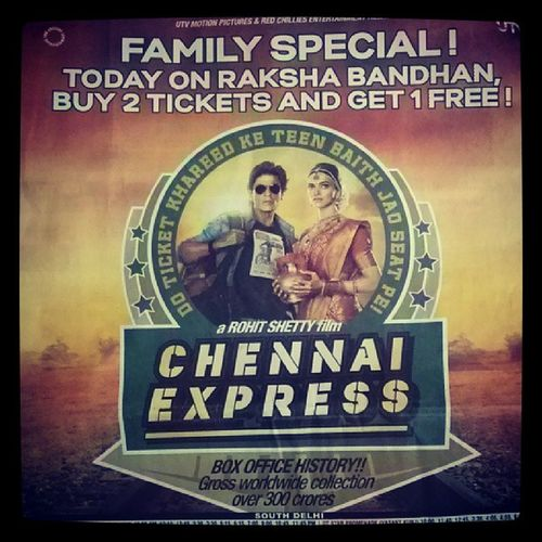 Marketing - Bollywood Style.. Chennaiexpress out to get more people on the train...