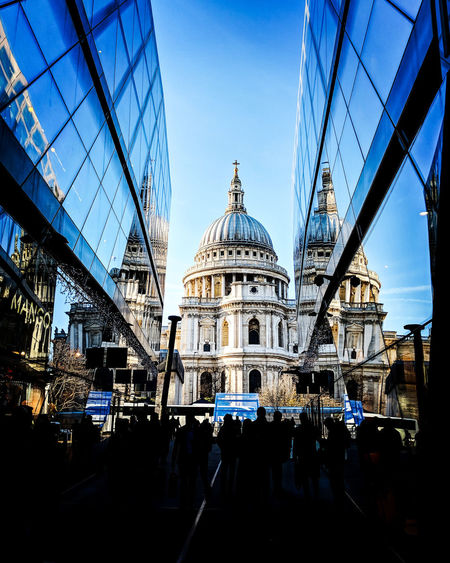 View of cathedral from one new change shopping floor Cathedral London Sightseeing Tourism One New Change Best View