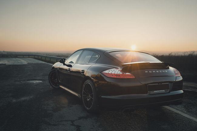 Automobile Porsche Porsche Panamera Auto Automotive Automotive Photography Black Car BlackCar Cars In Sunset German Cars Panamera Sunset Tamasschober