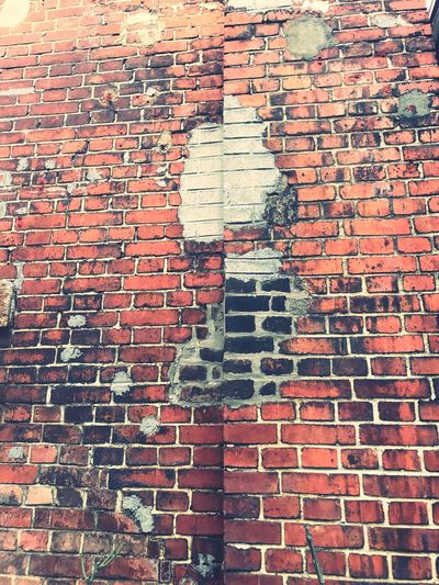 Brick Wall Full Frame Day Outdoors Built Structure No People Architecture Backgrounds Building Exterior