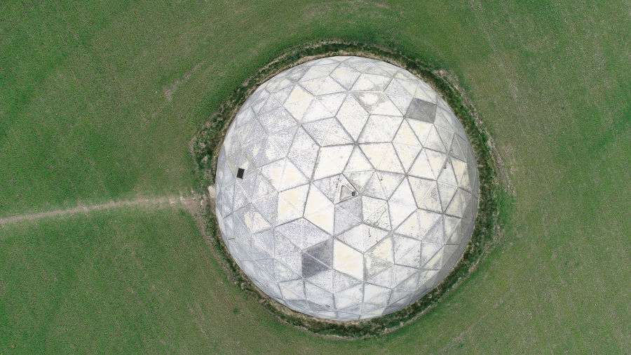 No People Grass High Angle View Geometric Shape Day Sport Nature Close-up Shape Outdoors Green Color Circle Directly Above Plant Team Sport Full Frame Pattern Design Ball Water