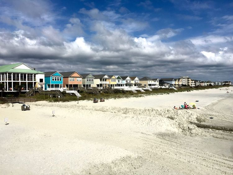 Beach Photography Beach Time South Carolina Surfside Beach USA America Architecture Beach Beach Day Building Exterior Built Structure Day Large Group Of People Outdoors People Residential Building Residential District Sand