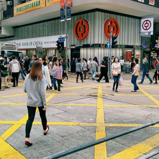 Outdoors Real People People Street Streetphotography HongKong Thim Sha Tsui Rear View Day Daily Life Photo