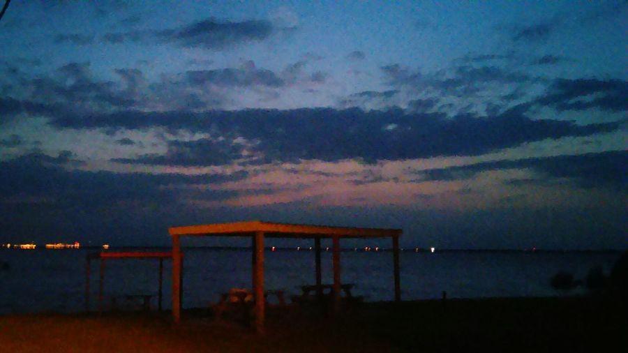 Boca Chica pier. Matagorda Bay Texas Landscape Fishing Sunset