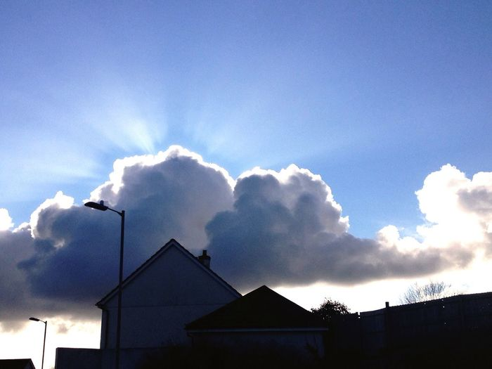 Every cloud has a silver lining Sun Ray #silver Lining #sky Pics