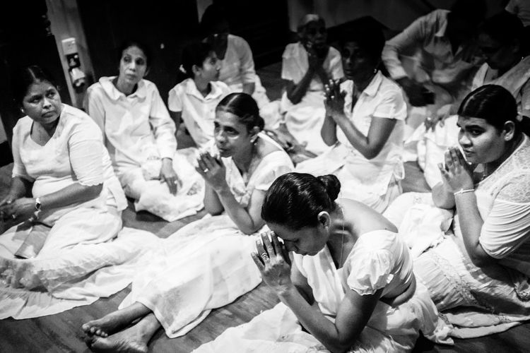 Blackandwhite Buddhism Fujifilm_xseries Praying Sri Lanka Temple Of The Tooth Relic Togetherness Travel Travel Photography Women Around The World X100t Fujifilm The Photojournalist - 2017 EyeEm Awards