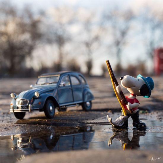 Pêche à La Ligne Snoopy Citroen 2cv