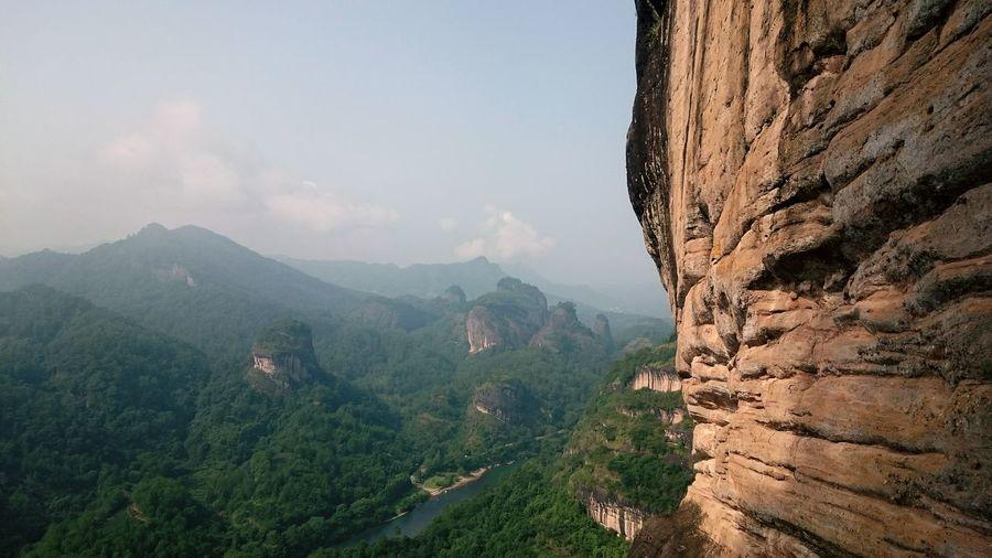 China Wuyishan 武夷山 Mountain View Beautiful Nature Mountaintop Dawangfeng 大王峰