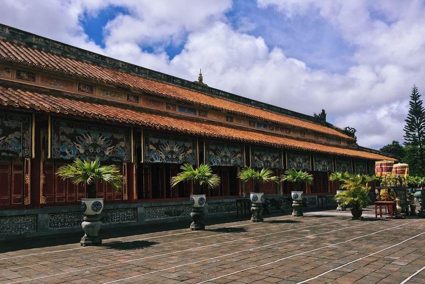 43 Golden Moments Hung Mieu Temple Temple Temple Architecture Architecture Ancient Building Huế Vietnam History Tiles Landscape Travel Traveling Iphone6 Vacation Time Natur