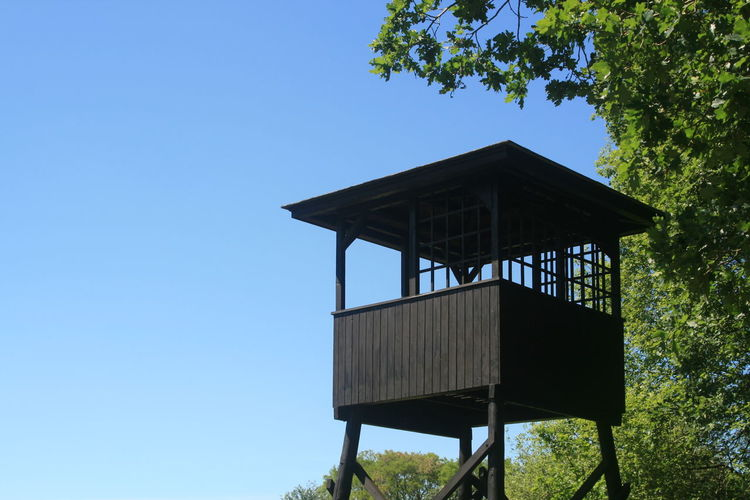 in memory of World War II World War 2 Concentrationcamp Tree Clear Sky Lookout Tower Sky Architecture Built Structure Building Exterior Calm Observation Point