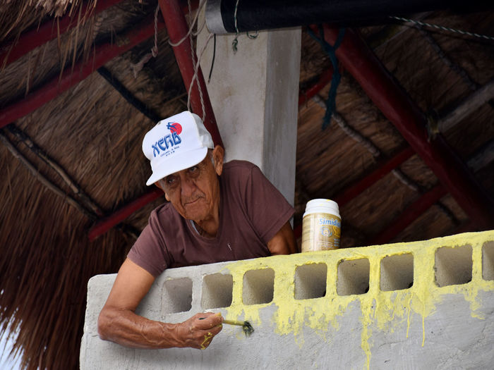 Old Man House Repair One Person Painter Painting Real People Senior Adult Senior Citizen  Senior Male