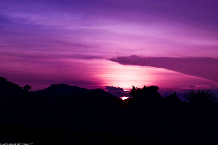 Silhouette Sunset Mountain Landscape Nature Pinaceae Scenics Beauty In Nature Tranquility No People Outdoors Sky Tree Day Astronomy