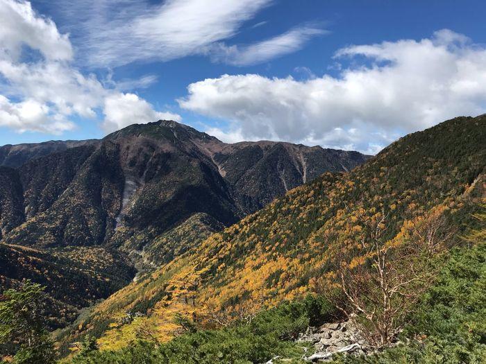 甲斐駒ヶ岳 Cloud - Sky Sky Mountain Beauty In Nature Tranquil Scene Scenics - Nature Tranquility Nature Landscape
